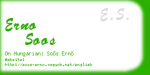 erno soos business card